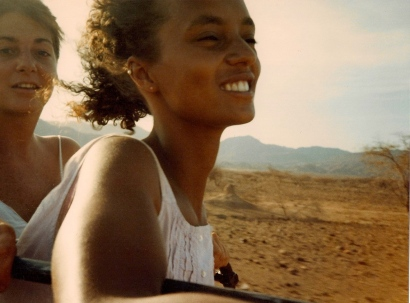 Heading through the northern desert of Kenya, 1986